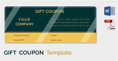 blank coupon templates   psd word eps jpeg