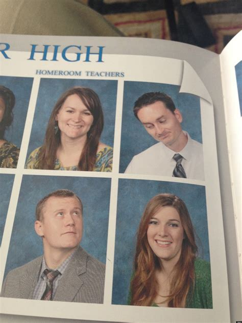 teachers yearbook  show   silly side photo