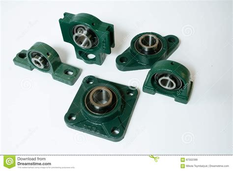 Ball Bearing Units Different Types On A White Background