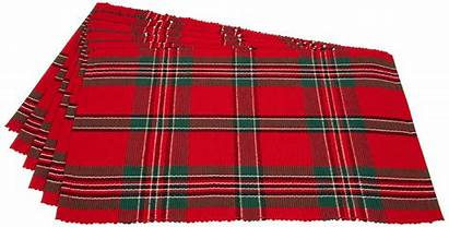 Plaid Placemats Christmas Holiday Tartan Tablescape Walmart