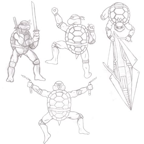 Tmnt Body Template by Outline Ninja Turtles Tattoos