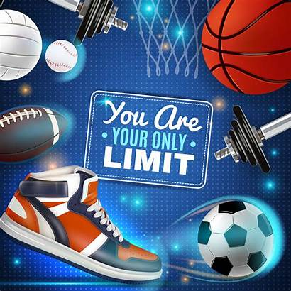 Poster Sport Inventory Colorful Vector Sports Volleyball