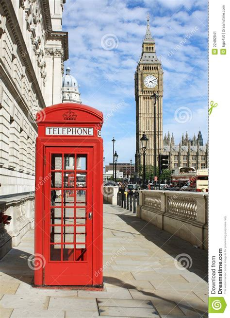 red telephone booth stock image image  famous culture