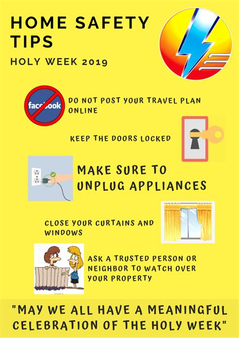 HOME SAFETY TIPS FOR HOLY WEEK 2019 - Socoteco 2