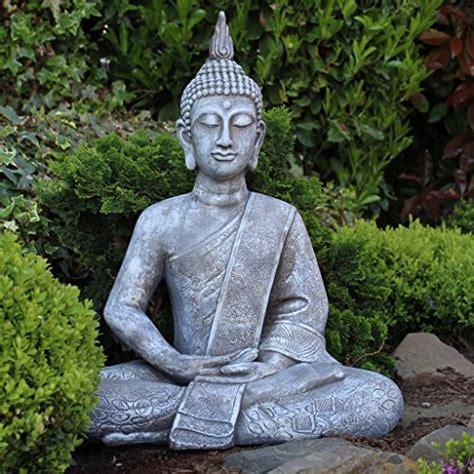 Buddha Statue Groß 65cm Sitzend Dekofigur Für Wohnzimmer
