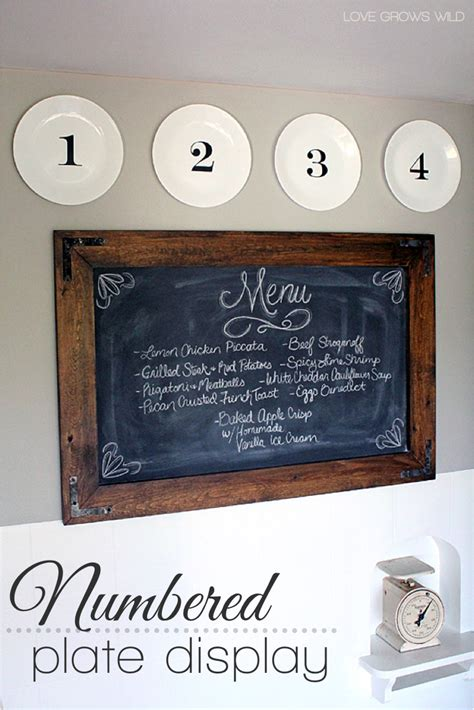diy kitchen decor diy kitchen decor numbered plate display grows Diy Kitchen Decor
