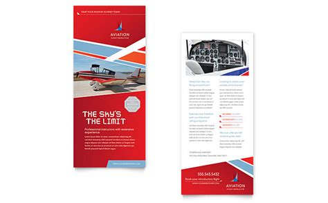 letterheads template free aviation flight instructor rack card template design