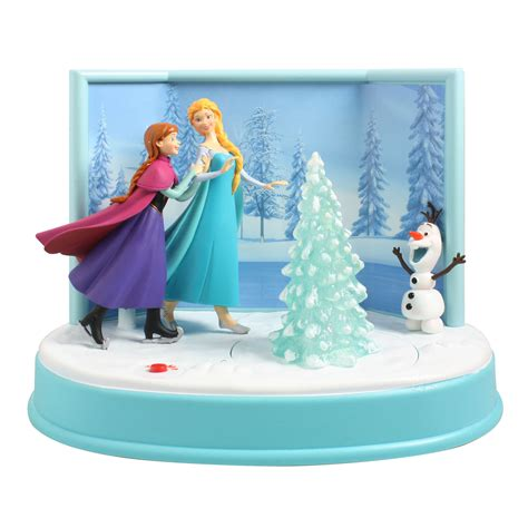 disney  musical animated frozen skating table top