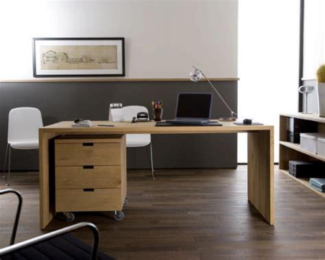 bureau bois massif moderne meubles en bois naturel ethnicraft