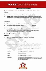 free shareholders agreement template uk With shareholder agreements template