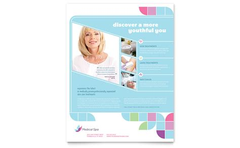 medical spa flyer template word publisher