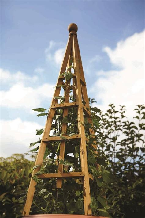 Large Wooden Garden Obelisk By Garden Selections