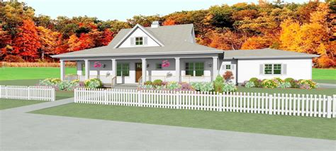 Country House Plan With Unfinished Basement