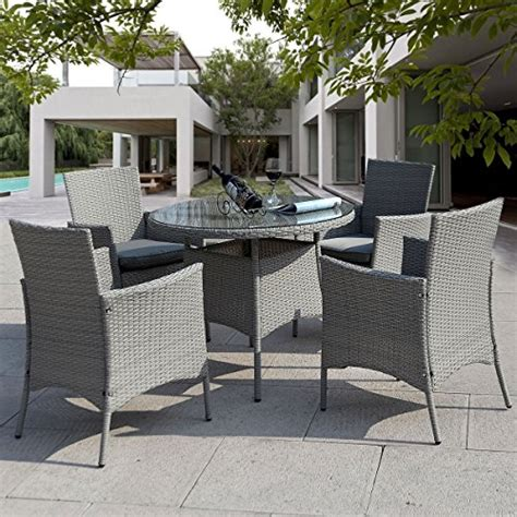 giantex 5 pc patio rattan furniture set outdoor backyard