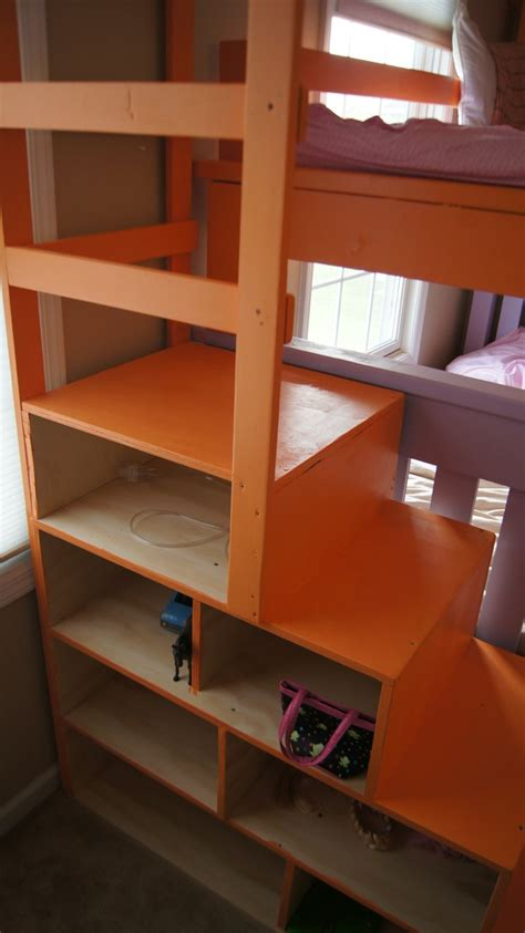 ana white simple bunk bed   triple twist  cubby