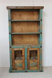 great rustic wood bookcases Great dimensions for the girls room. Handmade in Mexico ...