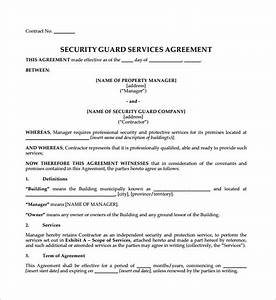 contract agreement 9 download free documents in pdf word With security company contract template