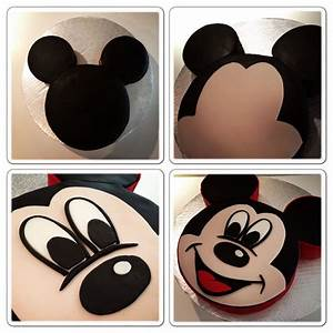labkry mickey mouse cake tutorial pinterest 2nd With mickey mouse face template for cake