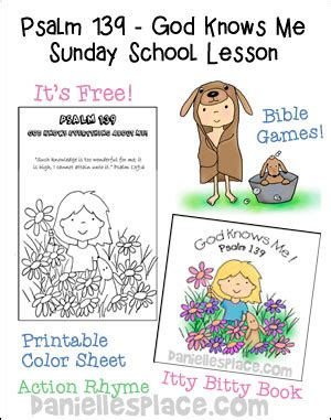 free sunday school lesson for children ladybug friends 907   bible lesson psalm 139 home school