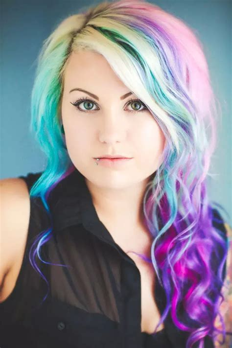 ombre rainbow color hair trend   spring  summer