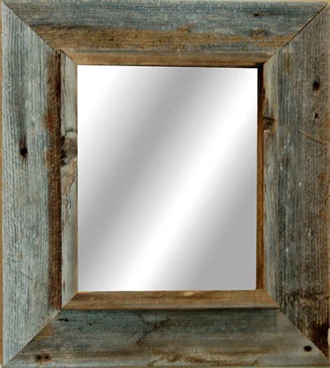 western rustic mirror reclaimed barnwood  frame
