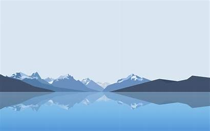 Mountain Minimalism Lake Wallpapers Reflection Mountains Vector