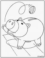 Toy Story Coloring Hamm Piggy Bank Pages Birthday Lightyear Buzz Drawings Ts Ultimate Disney Parties Kid Zurg Posters sketch template