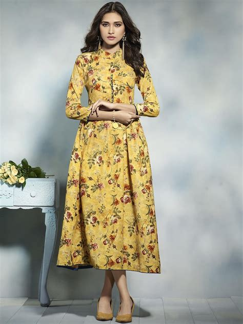 New Look Floral Design by Floral Printed Kurti For The Flourish Look In This