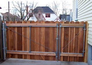 cedar rv gate  man door yard pinterest fencing