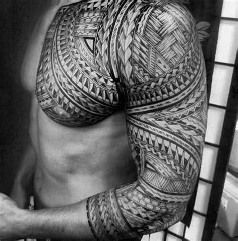 polynesian chest tattoo designs  men tribal ideas