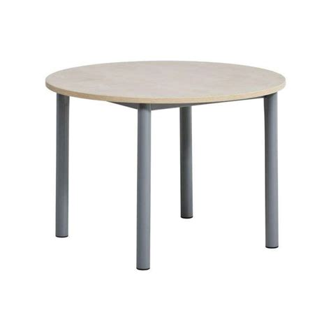 pied de table cuisine table de cuisine ronde en stratifié lustra 4 pieds