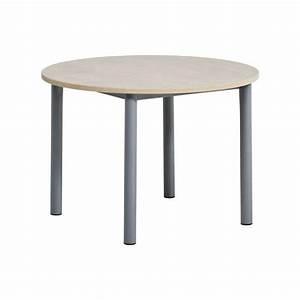 Table Ronde Cuisine : table de cuisine ronde en stratifi lustra 4 pieds tables chaises et tabourets ~ Teatrodelosmanantiales.com Idées de Décoration