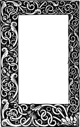 Vector Ornate Frame Vector Clip Art - Ai, Svg, Eps Vector
