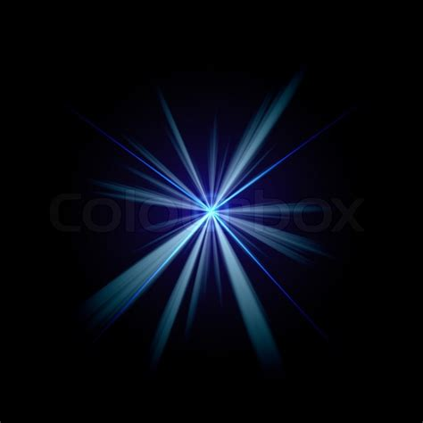 flashes of light bright blue flash of light or lens flare burst a