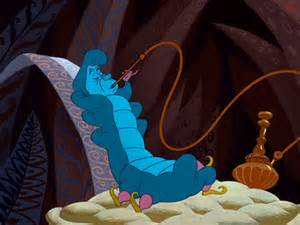 Alice in Wonderland Caterpillar Smoking