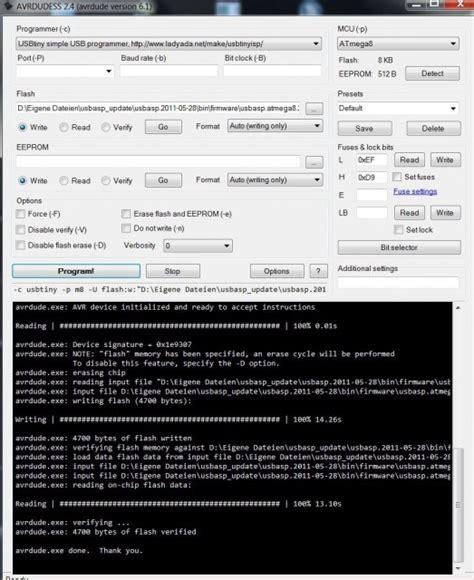 usbasp von hobbyking firmware update fehler set sck period kopterforum
