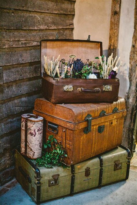 Decorating Ideas Using Suitcases 42 adorable vintage suitcases wedding ideas deer pearl