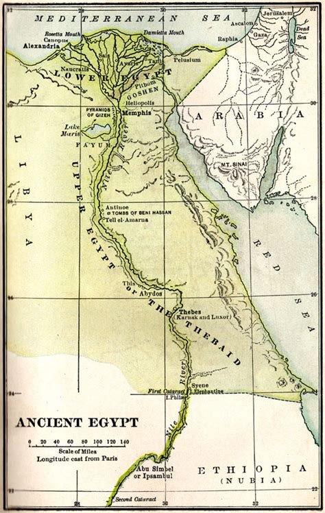 map  ancient egypt