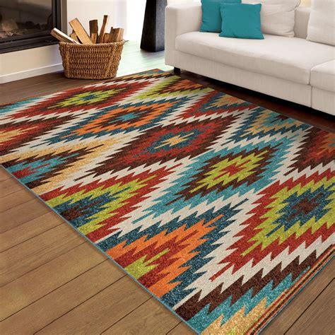 aztec area rug orian rugs indoor outdoor aztec sedona multi area small