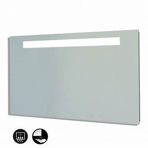 miroir salle de bain eclairage et interrupteur infrarouge With miroir retro eclaire salle bain