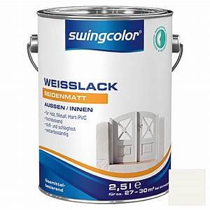 Swing Color Farben : swingcolor wei lack wei 2 5 l seidenmatt bauhaus ~ A.2002-acura-tl-radio.info Haus und Dekorationen