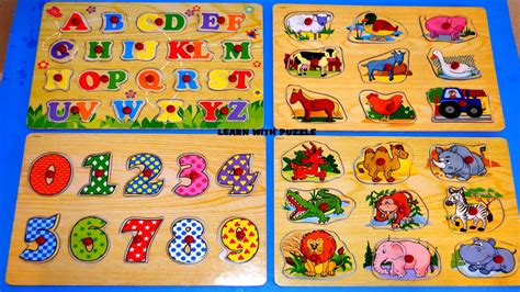 learn animalsnumbers counting  abc letters puzzle fun