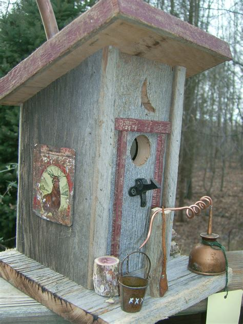 Outhouse Birdhouse With Moonshine Still Birdhouses