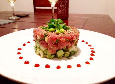 tartare cuisine tuna tartare in sesame sauce choosingchia