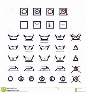 Laundry Care Symbols Stock Vector  Illustration Of Label
