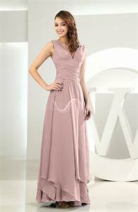 bridal rose simple a line v neck sleeveless chiffon With simple dress for wedding guest