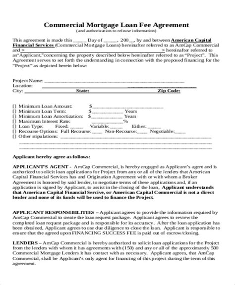 Success Fee Agreement Template success fee agreement template sle commercial loan