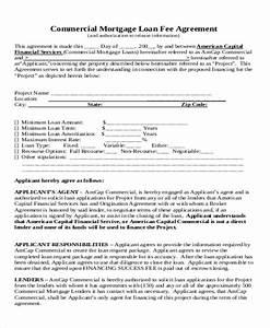success fee agreement template sample commercial loan With success fee agreement template