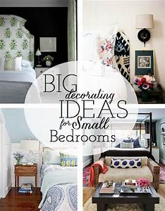 Working with a small master bedroom emily a clark for Small master bedroom ideas for decorating
