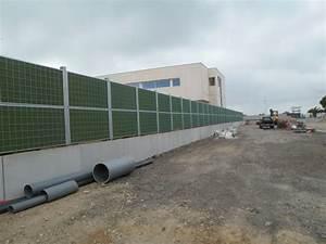 Mur Anti Bruit Végétal : mur antibruit port camargue dans la gard pose de murs ~ Melissatoandfro.com Idées de Décoration